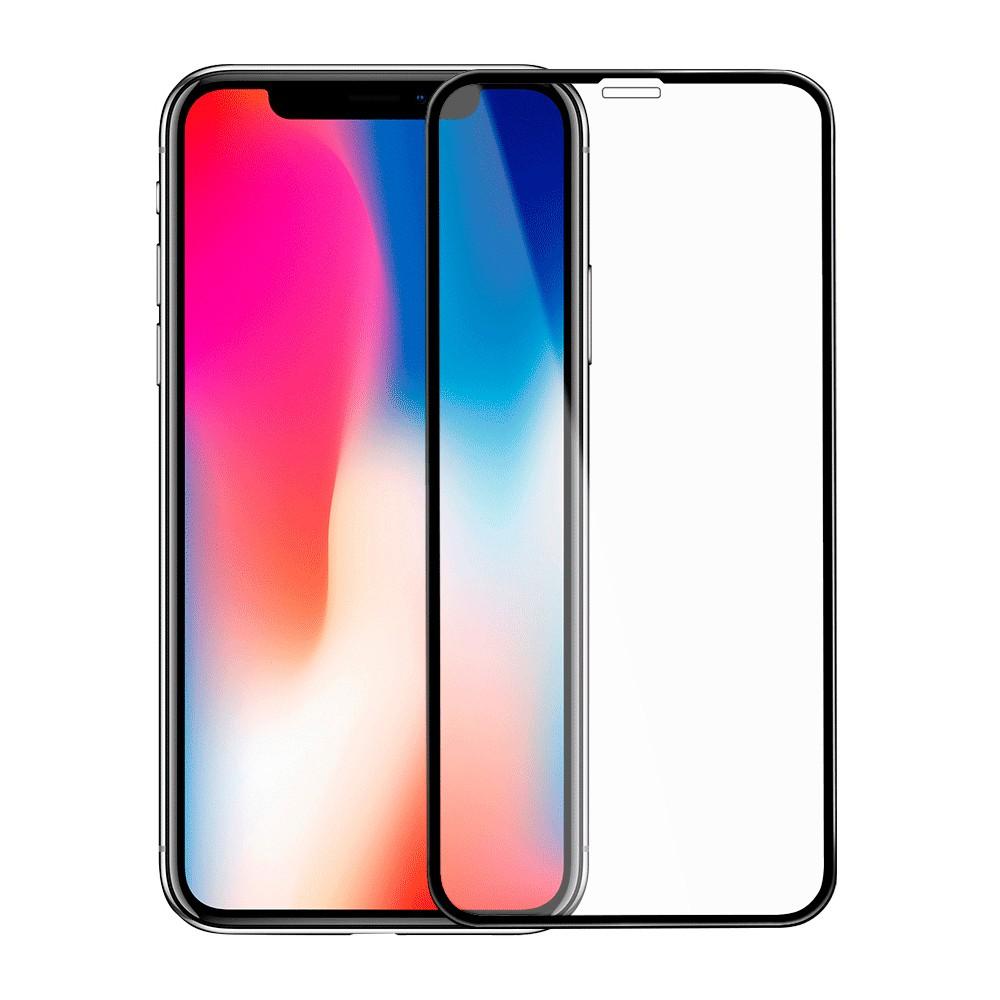 Защитное стекло Onext для Apple iPhone XR с рамкой 2,5 D (прозрачное)