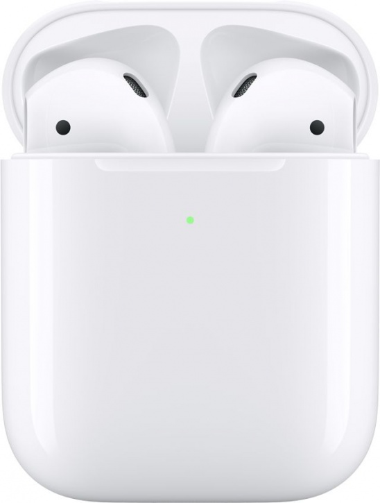 Беспроводные наушники Apple AirPods 2 в футляре с беспроводной зарядкой MRXJ2 (2019)