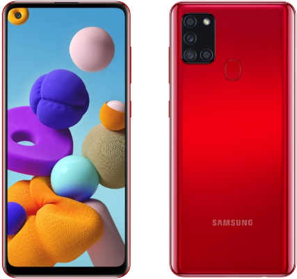 Samsung Galaxy A21s 4/64GB Red (красный)