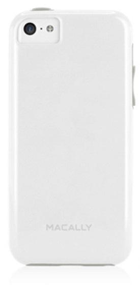 Клип-кейс пластиковый Macally Flexible для iPhone 5C TPU белый (арт.FLEXFITP6-W)