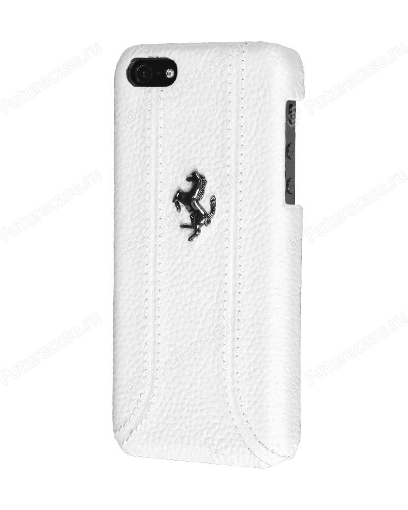 Чехол клип-кейс Ferrari (FEFFHCPMWH)  для iPhone 5C белый