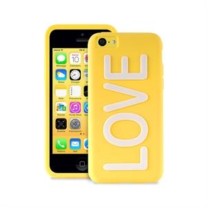 Клип-кейс PURO NightGlow TRU LOVE для iPhone 5C  желтый