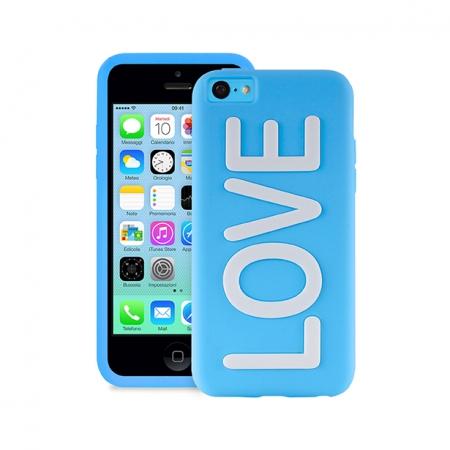 Клип-кейс PURO NightGlow TRU LOVE для iPhone 5C  голубой