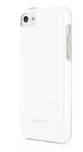 Пластиковый защитный чехол Macally FLEXFIT для iPhone 5C, белый (арт. FLEXFITP6-W)