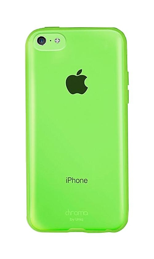 Чехол для iPhone 5C Uniq Chroma, цвет lime green (IP5CHYB-CRMGRN)