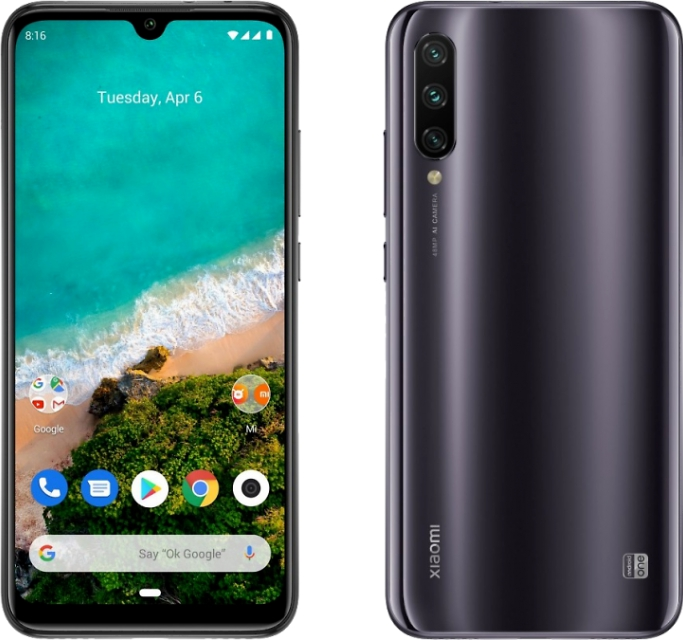 Смартфон Xiaomi Mi A3 4/64GB Gray EU (серый)
