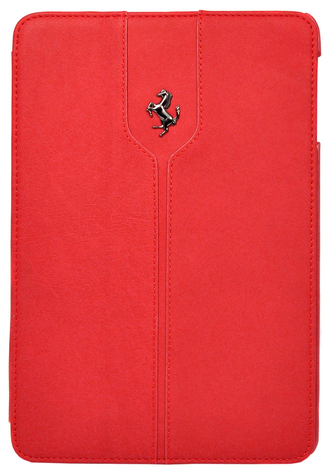Чехол-книжка кожанный Ferrari Montecarlo Red для Apple iPad Air  (красный)