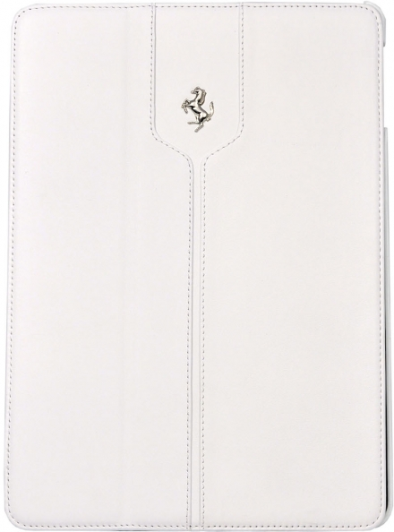 Чехол-книжка кожаный Ferrari Montecarlo White для iPad Air (белый)