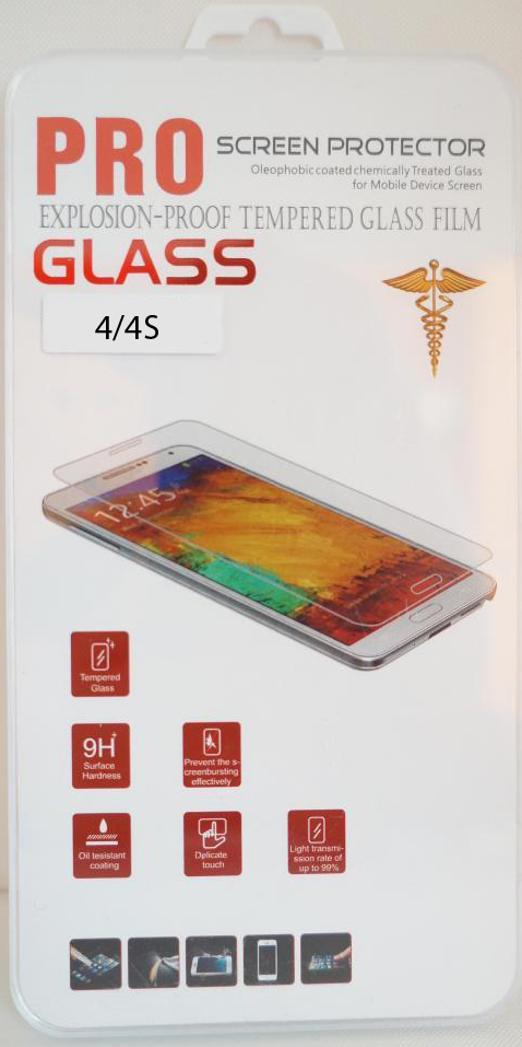 Защитное стекло PRO Glass Screen Protector, для iPhone 4s