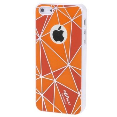 Чехол накладка для iPhone 5 SZLF Ultra thin оранжевый