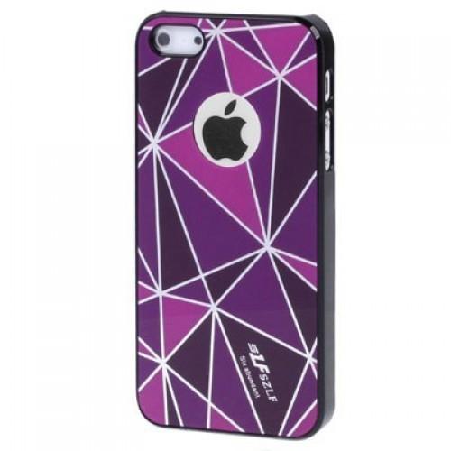 Чехол накладка для iPhone 5 SZLF Ultra thin фиолетовый