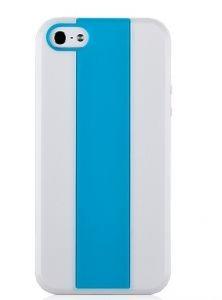 Пластиковая накладка Momax iCase MX, iPhone 5 (White+Blue)