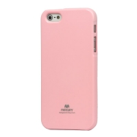 Mercury Flash Powder TPU Gel Case Shell for iPhone 5 - Pink