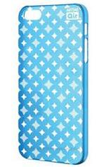 Чехол тонкий клип-кейс Artske Air Case (0.35mm) light blue cross  (AC-LB1-IP5) для iPhone 5/5S голубой + защитная пленка