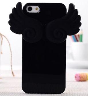 Чехол силиконовый клип-кейс Angle wing  для iPhone 5/5s черный