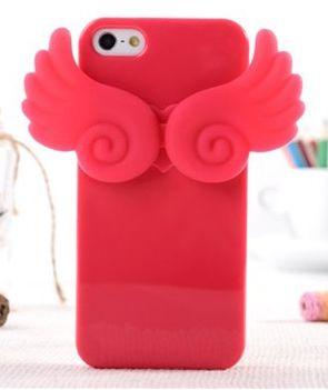 Чехол силиконовый клип-кейс Angle wing  для iPhone 5/5s фуксия