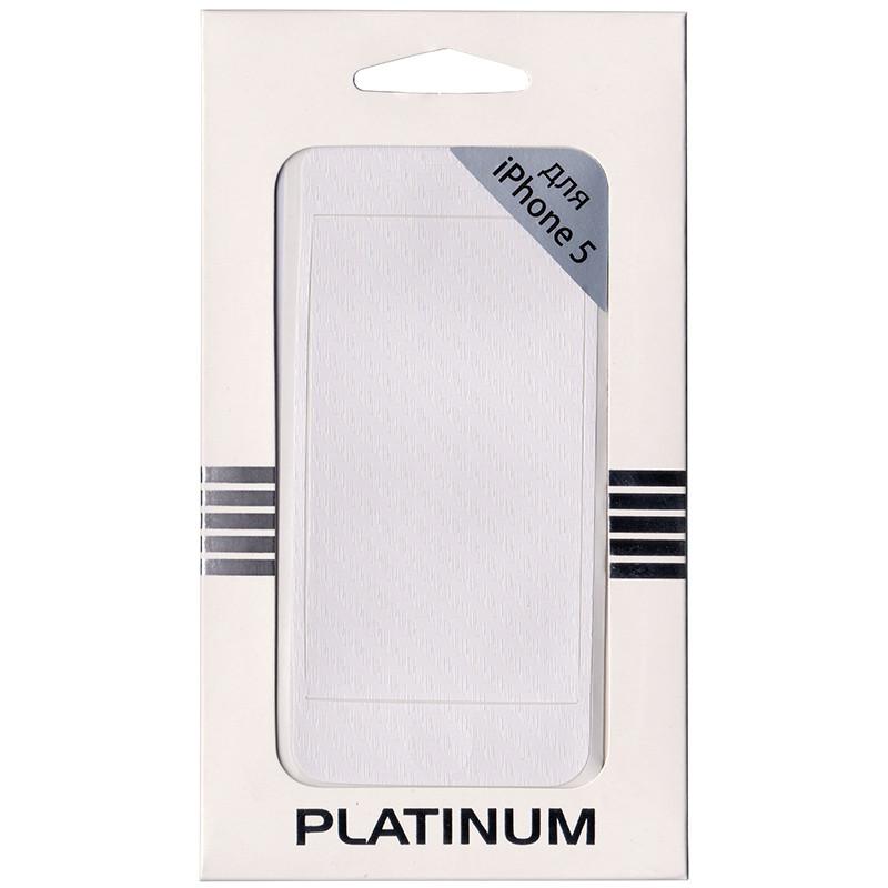 Защитная плёнка декоративная Platinum iPhone 5/5S карбон белая