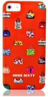 Чехол клип-кейс Replay Miss Sixty Pop Art-Bags (M3014-I5BOR) для iPhone 5/5S