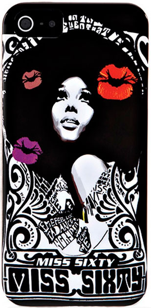 "Чехол Miss Sixty ""Hippies60s Black"" (M30001-I5BBK)для iPhone 5"