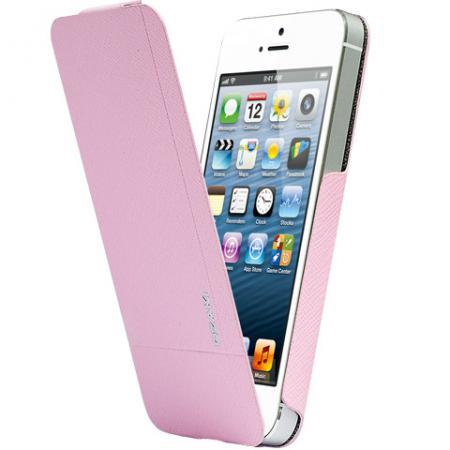 Чехол флип-кейс Ozaki O!coat Aim High Tenderness Pink (OC553TS) для iPhone 5/5S розовый