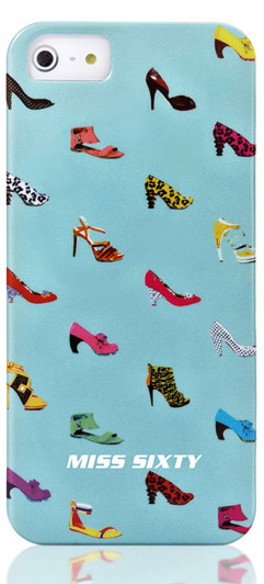 Чехол клип-кейс Replay Miss Sixty Pop Art-Shoes (M3012-I5BLB) для iPhone 5/5S