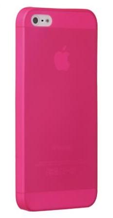 Чехол клип-кейс Ozaki O!coat 0.3 Jelly (OC533PK) для iPhone 5/5S розовый  + защитная пленка