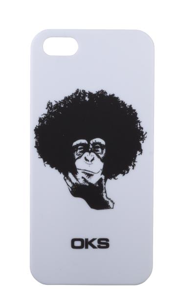 Чехол-клип кейс InterStep OKS Klip Мартышка для Apple iPhone 5 белый