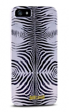 Клип-кейс PURO Just Cavalli Zebra Cover для iPhone 5 серебристый