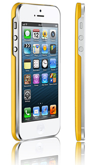 Чехол клип-кейс Araree half для iPhone 5/5S желтый