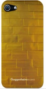 Чехол клип-кейс Guggenheim Hard Electro Gold (COGUIP5ELTIGLD) для iPhone 5/5S золотистый