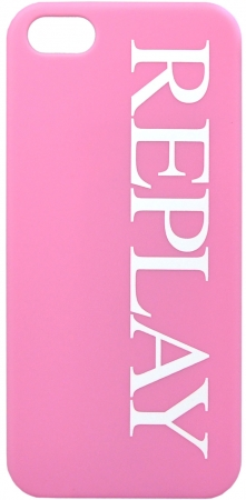 Чехол клип-кейс Replay Logo Rubber для iPhone 5/5s розовый