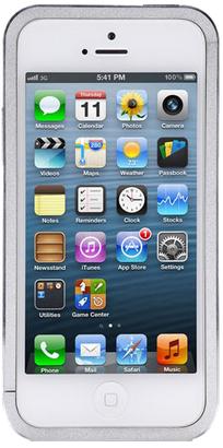 Алюминиевый защитный бампер Just Mobile AluFrame Aluminium для iPhone 5/5S (серый)