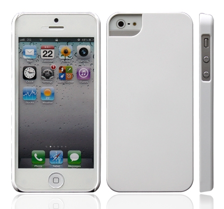Чехол клип-кейс iCover Rubber  (IP5-RF-W) для iPhone 5/5s белый