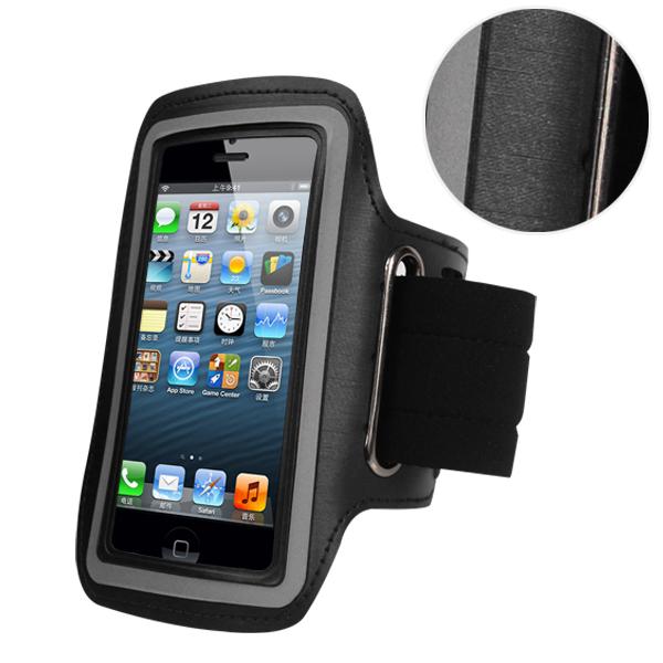 Спортивный чехол на руку для бега для iPhone 5/5S черный