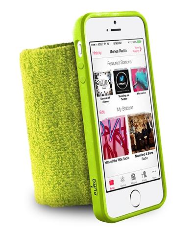 Спортивный чехол на руку  Puro Running Wristband (IPC5RUNGRN) для iPhone 5/5S/SE (зеленый)