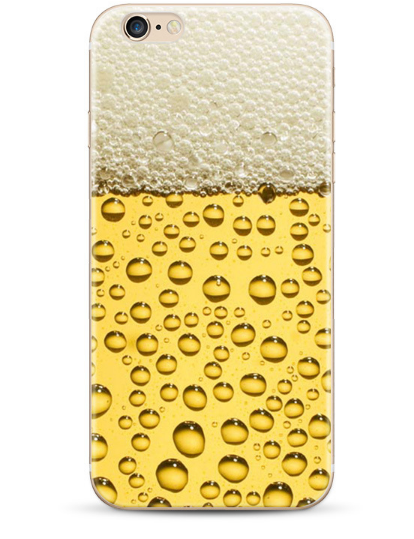 """Чехол клип-кейс пластик """"Пиво пенное"""" для iPhone 5/5S/SE"""
