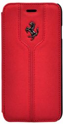 Чехол флип-кейс Ferrari Flip Montecarlo Booktype Case Red для Apple iPhone 5/5S/SE  (красный)