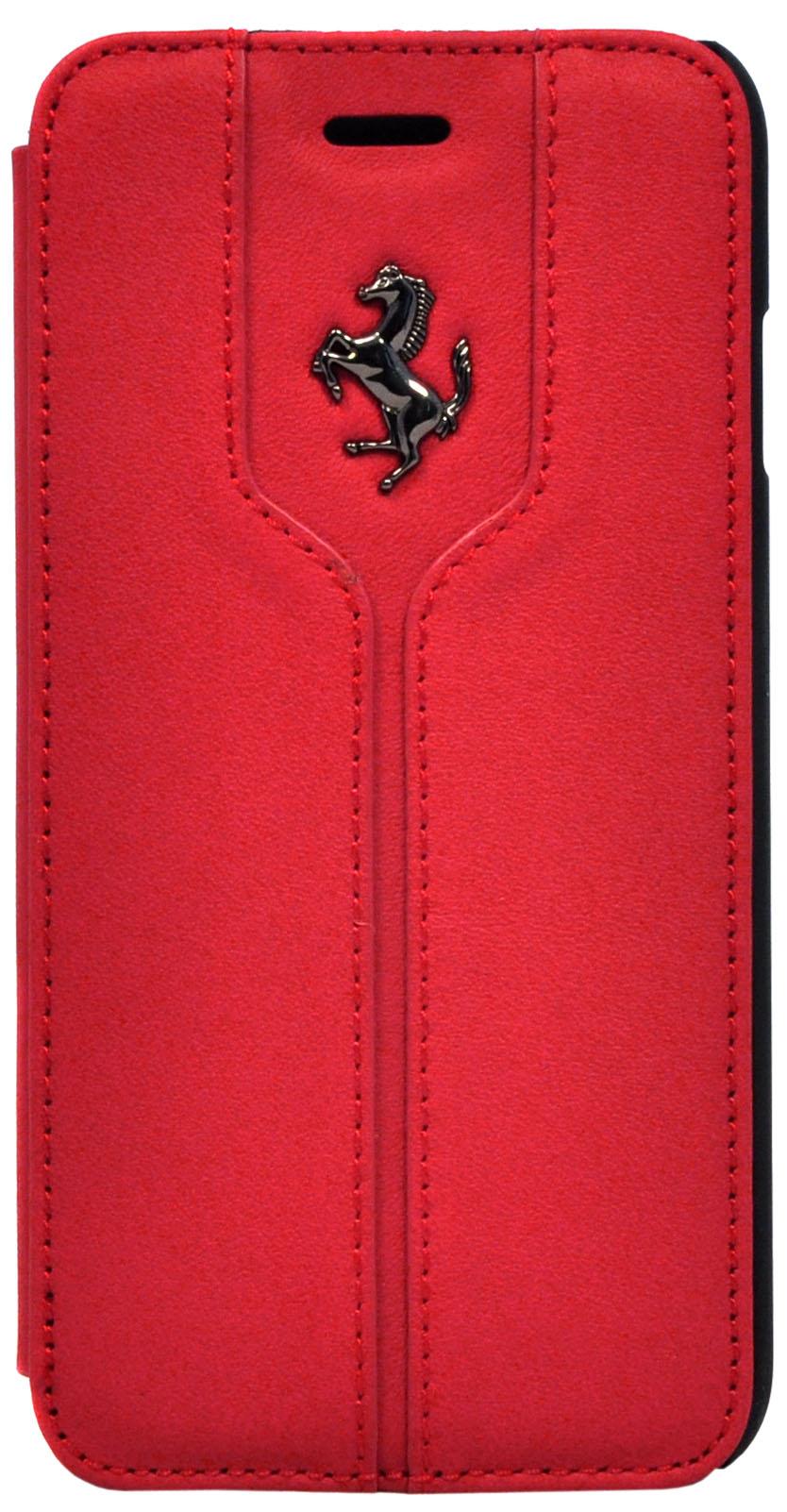 Чехол флип-кейс Ferrari Flip Montecarlo Booktype Case Red для Apple iPhone 5/5S/SE  (красный)