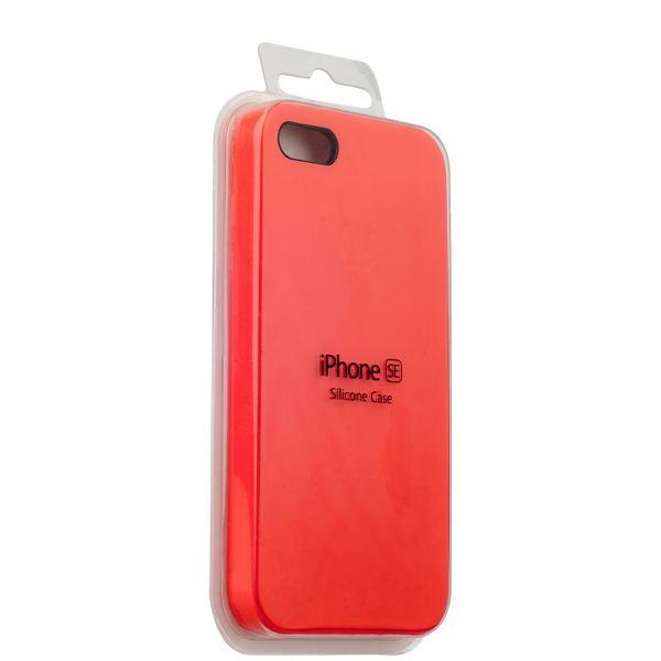 Чехол клип-кейс Apple силиконовый для iPhone 5/5s/SE красный (реплика)