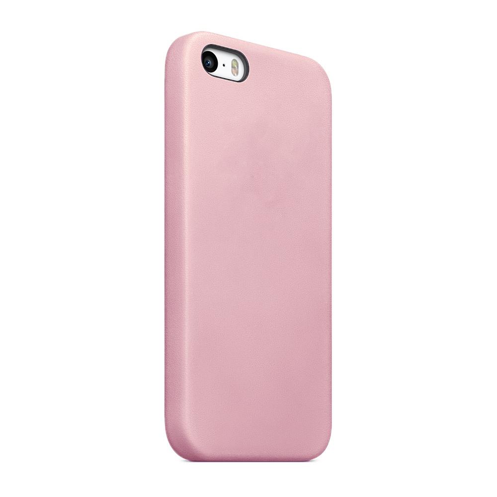 Чехол клип-кейс Apple силиконовый для iPhone 5/5s/SE розовый (реплика)