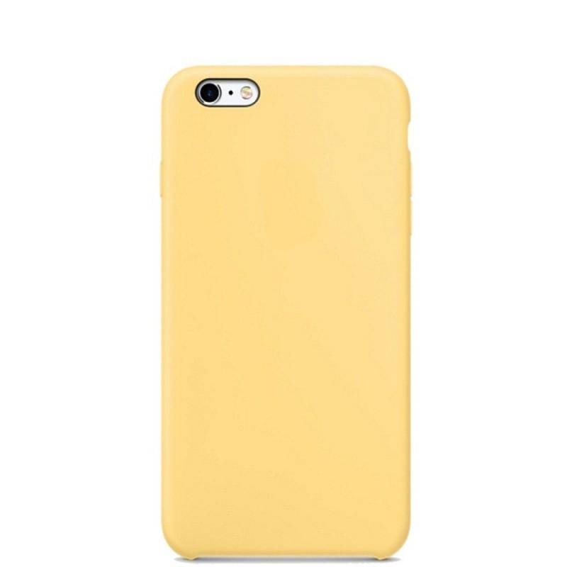 Чехол клип-кейс Apple силиконовый для iPhone 5/5s/SE желтый (реплика)