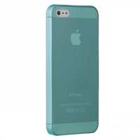Ozaki O!coat 0.3mm Jelly Cyan - ультра тонкая накладка для iPhone 5 (Голубой)