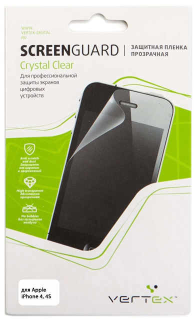 Защитная пленка прозрачная для iPhone 4/4S