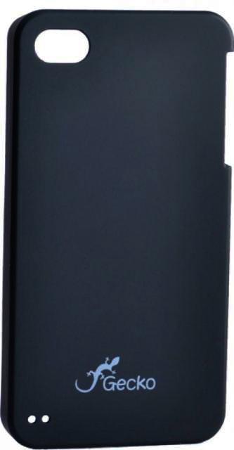Чехол пластиковый Gecko для iPhone 4/4S (черный)