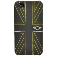 Чехол Mini Hard Leather Union Jack Yellow (MNHLP4UJYE)  для iPhone 4/4S