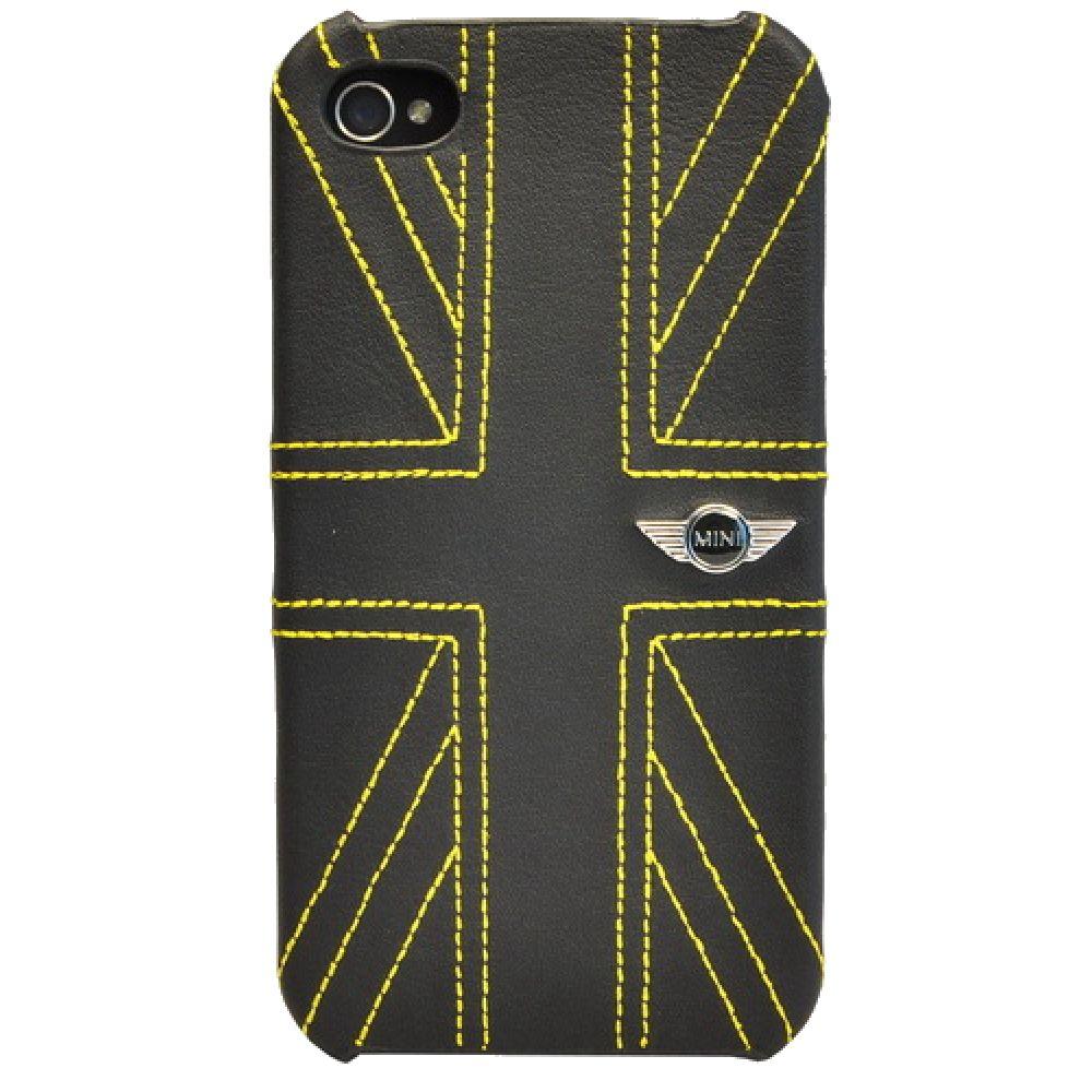 Чехол Mini Hard Leather Union Jack Yellow (MNHLP4UJYE)  для iPhone 4/4S