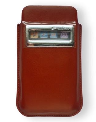 Чехол карман кожаный Melkco iCaller Pouch Type Vintage для Apple iPhone 4/4S коричневый