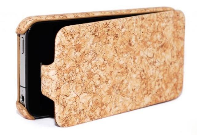 Чехол кожаный HOCO Marbling для Apple iPhone 4/4S бежевый