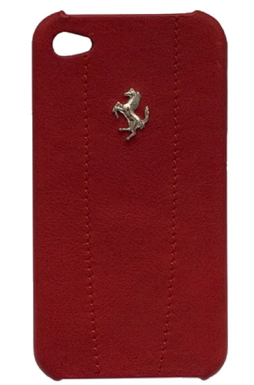 Чехол кожаный Ferrari Hard Modena FEMO4MRE Red для iPhone 4/4S красный