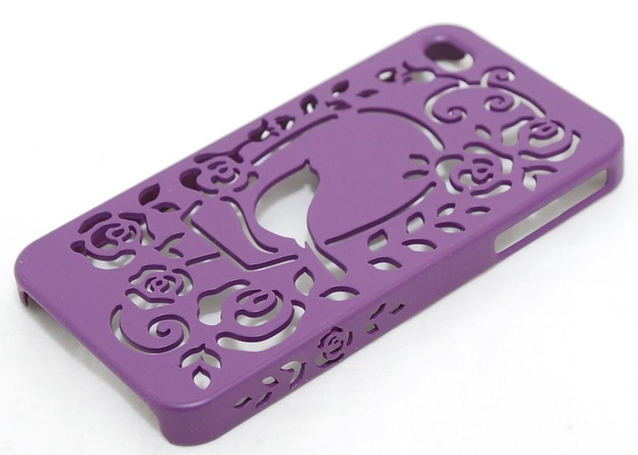 Чехол пластиковый PIVOT My little garden для Apple iPhone 4 / 4S фиолетовый
